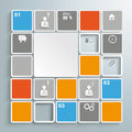 Mosaic infographic piad colored rectangles on the grey background eps file Royalty Free Stock Photos