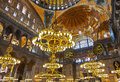 Mosaic interior in Hagia Sophia at Istanbul Turkey Royalty Free Stock Images