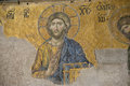 Mosaic of jesus christ this famous is situated in the hagia sophia istambul turkey the image is the part the deësis Stock Image