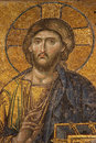 Mosaic of Jesus Christ at Hagia Sofia Royalty Free Stock Photo