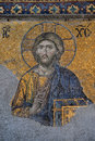 Mosaic of Jesus Christ in Hagia Sophia in Istanbul, Turkey Royalty Free Stock Photo
