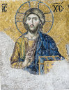 Mosaic of the jesus hagia sophia istanbul turkey Royalty Free Stock Image