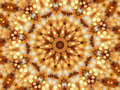 Mosaic kaleidoscope of circular lights Royalty Free Stock Images