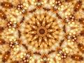 Mosaic kaleidoscope of circular lights Royalty Free Stock Photo
