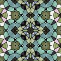 Mosaic kaleidoscope seamless pattern background - full colored with black grout