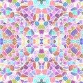 Mosaic kaleidoscope seamless texture background - sweet pastel multi colored with white grout