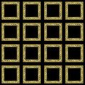 Mosaic knot wallpaper frames Royalty Free Stock Photos