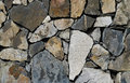 A mosaic like stone wall with different colored stones Royalty Free Stock Photo