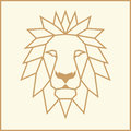 Mosaic low poly Lion Royalty Free Stock Photo