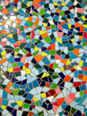 Mosaic in many colours and shapes