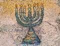 Mosaic menorah Royalty Free Stock Photo