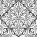 Mosaic Monochrome Pattern Of Lotus2 Royalty Free Stock Photo