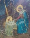 Mosaic of Nativity Scene at Christmas Royalty Free Stock Photo