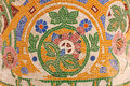 Mosaic natural theme. THE CATALANA MUSIC HALL Royalty Free Stock Photo