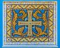 Mosaic of old christian ornament