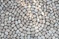 Mosaic Of Oval Cobblestones