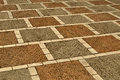 Mosaic from paving slabs Stock Photo