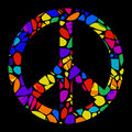 Mosaic Peace Sign Royalty Free Stock Photo
