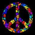 Mosaic Peace Sign Royalty Free Stock Photo