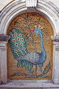 Mosaic  of Peafowl in monastery Royalty Free Stock Photography