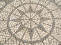 Mosaic in a Portuguese sidewalk Royalty Free Stock Images
