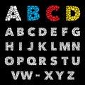 Mosaic puzzle alphabet set. Vector design Royalty Free Stock Photo