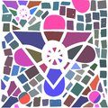 Mosaic reiki symbol gnoza Royalty Free Stock Photography