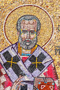 Mosaic of Saint Nicholas Stock Images