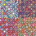 Mosaic seamless pattern texture vector Stock Photo