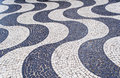 Mosaic of sidewalk Copacabana Stock Image