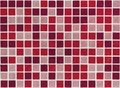 Mosaic of small square stone slabs red Royalty Free Stock Photo