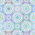 Mosaic spirograph pattern vector seamless texture Stock Images