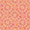 Mosaic spirograph pattern vector seamless texture Stock Photo