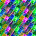 Mosaic square seamless background watercolor Royalty Free Stock Images