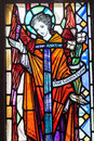 Mosaic of st maria colorful in glass Stock Image