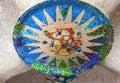 Mosaic sun Barcelona Gaudi Royalty Free Stock Photo