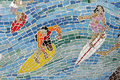 Mosaic Surfer, Background Royalty Free Stock Photos