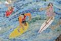 Mosaic Surfer, Background Royalty Free Stock Photo