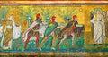 Mosaic with three Magi Royalty Free Stock Photo