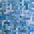 Mosaic tile background grunge slate Royalty Free Stock Photo