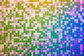 Mosaic tile wall multicolored blue green pink high resolution real photo Stock Photos