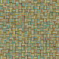 Mosaic tiled grunge varied color wood timber plank backdrop tile Stock Image