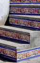 Mosaic Tiled Steps in Mazatlan Mexico Royalty Free Stock Photo