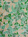 Mosaic tiles background pattern triangular Stock Photos