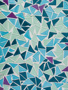 Mosaic tiles background pattern triangular Stock Photography