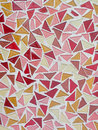 Mosaic tiles background pattern triangular Royalty Free Stock Photo