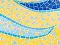 Mosaic tiles the colorful broken trencadis pattern background Royalty Free Stock Photos