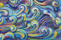 Mosaic tiles wave of Colorful  for background Royalty Free Stock Photo