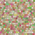 Mosaic tiling seamless background with the pastel pattern Royalty Free Stock Photos