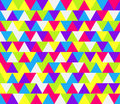 Mosaic triangle pattern seamless colorful for wallpaper fills web page background surface textures Royalty Free Stock Photography